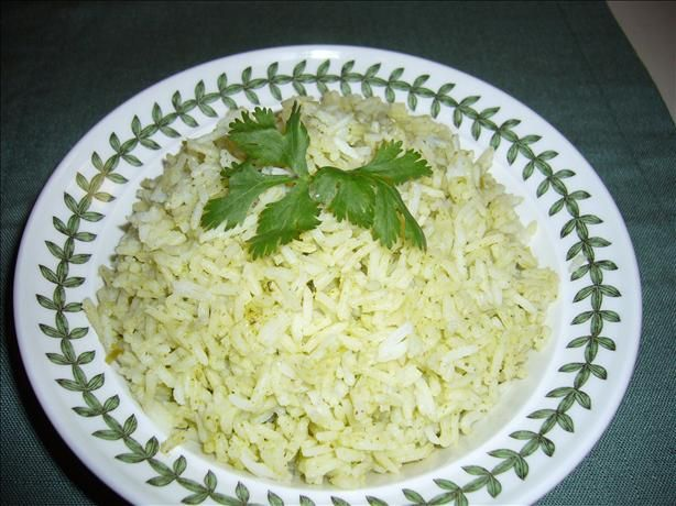 Cilantro Rice from Food.com: Cooled with cilantro and scallions, this ...