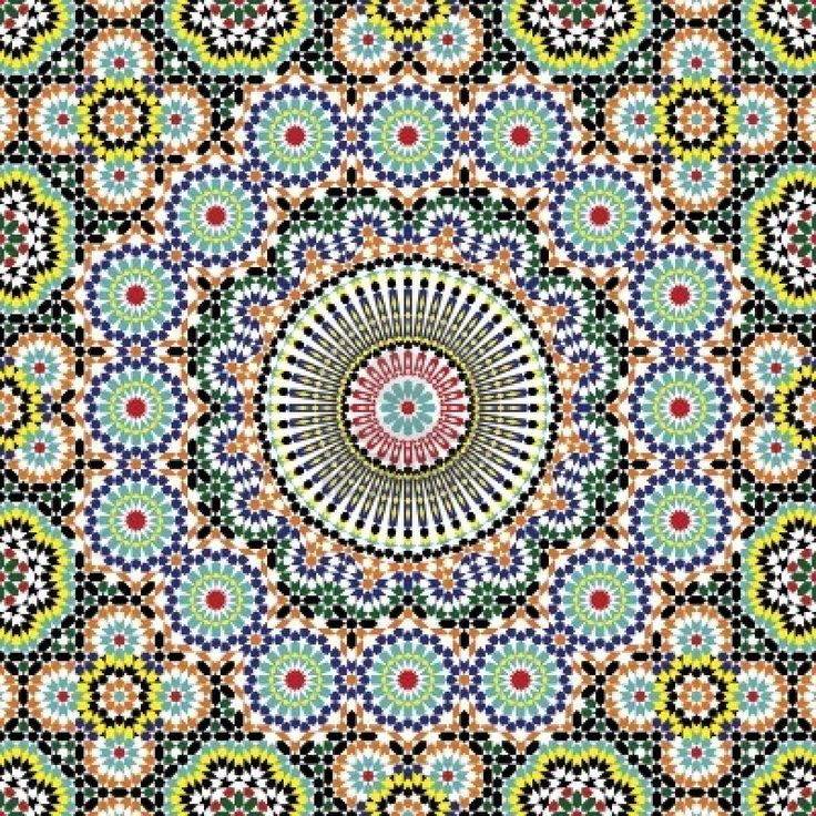 Morocco Mosaic Colouring Pages page 2