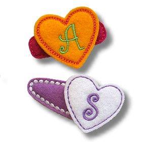 S Alphabet In Heart Images Felt Heart Monograms | Hearts!!! | Pinterest