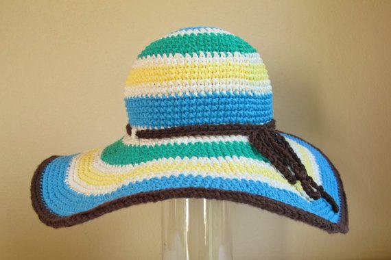 Free Pattern Crochet Wide Brim Hat : CROCHET PATTERN - Poolside - a wide brimmed summer hat in ...