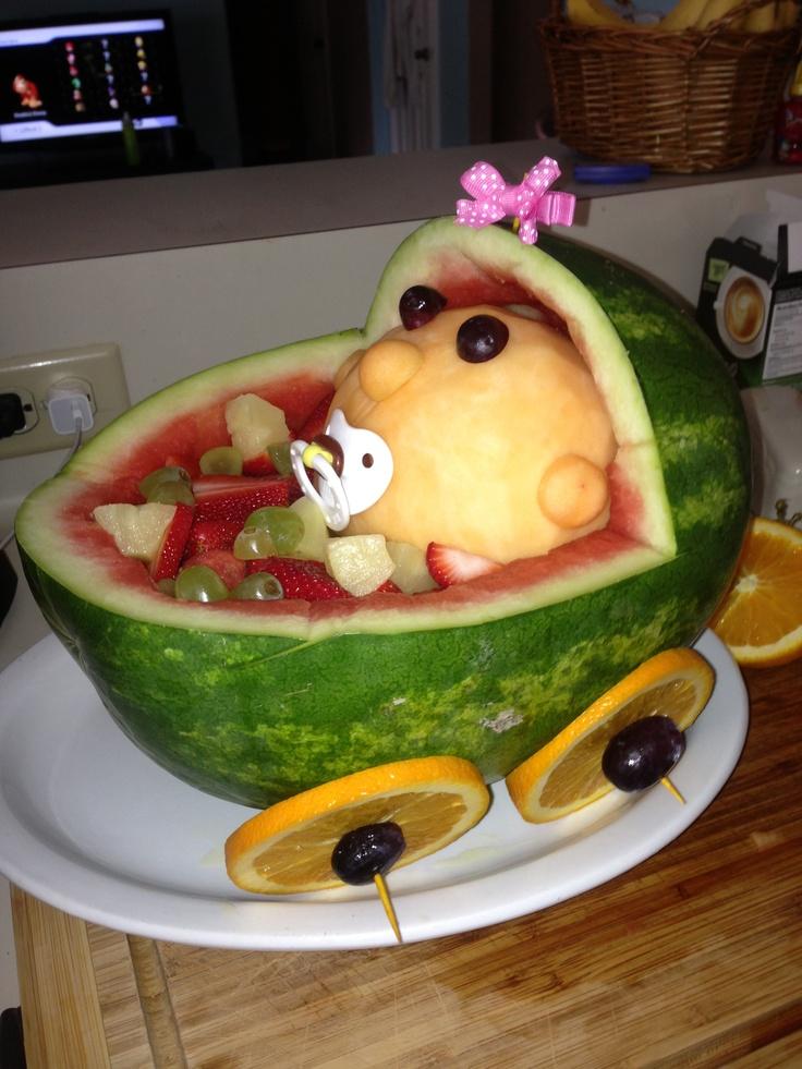 fruit basket for baby shower baby shower pinterest