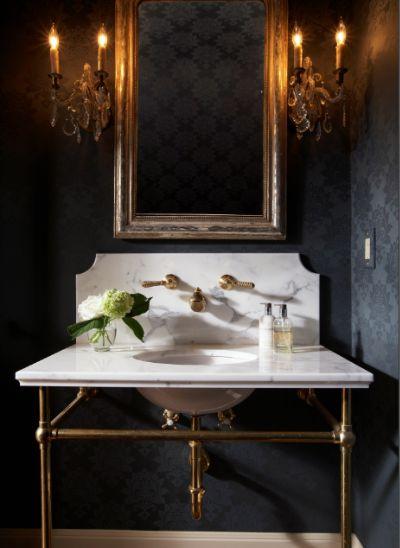 Dramatic powder room bathrooms pinterest for Dramatic bathroom designs