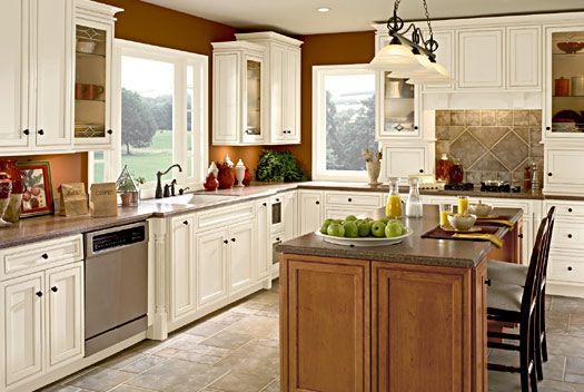 Warm white kitchen tiled floor dream kitchens pinterest for Warm kitchen flooring
