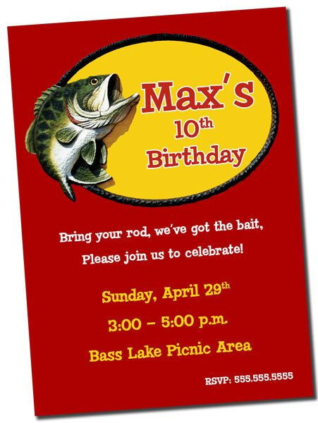 Fishing birthday party invitation printable for Fishing birthday party invitations