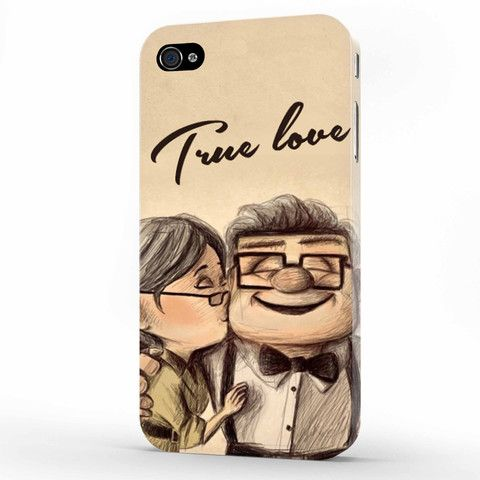 disney up old carl and ellie iphone 4   4s case, 3d