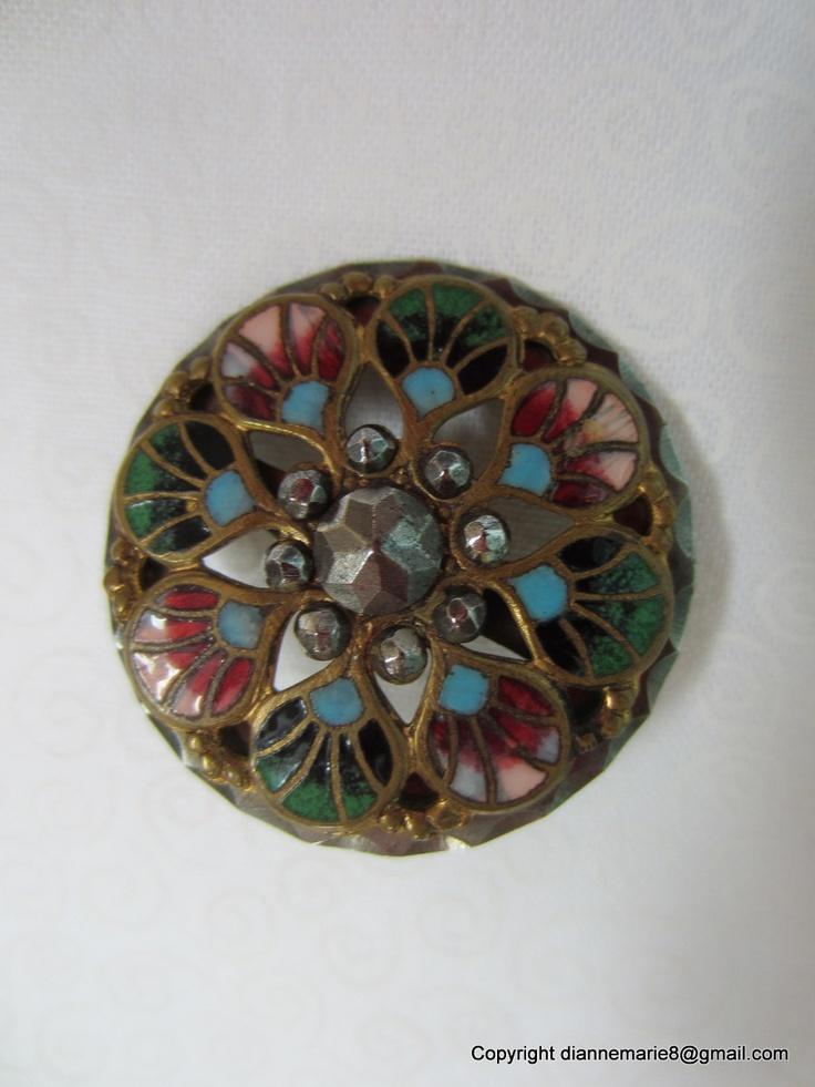 Antique Movable Enamel Button | My Vintage Buttons | Pinterest