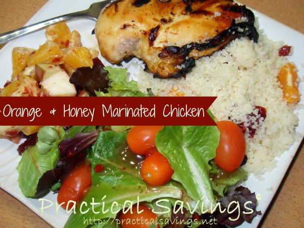 Orange & Honey Marinated Chicken with Couscous - Practical Savings