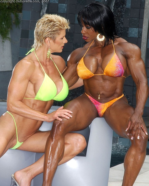 Lesbian body builder videos