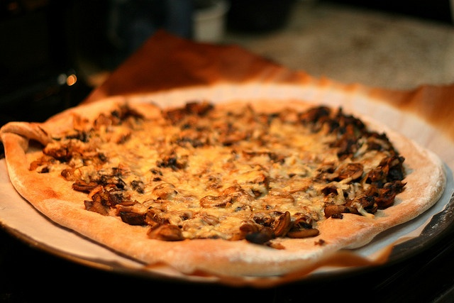 Mushroom-Leek Pizza by Lowell_Mariannika, via Flickr