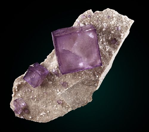 Fluorite with Quartz from Tennessee