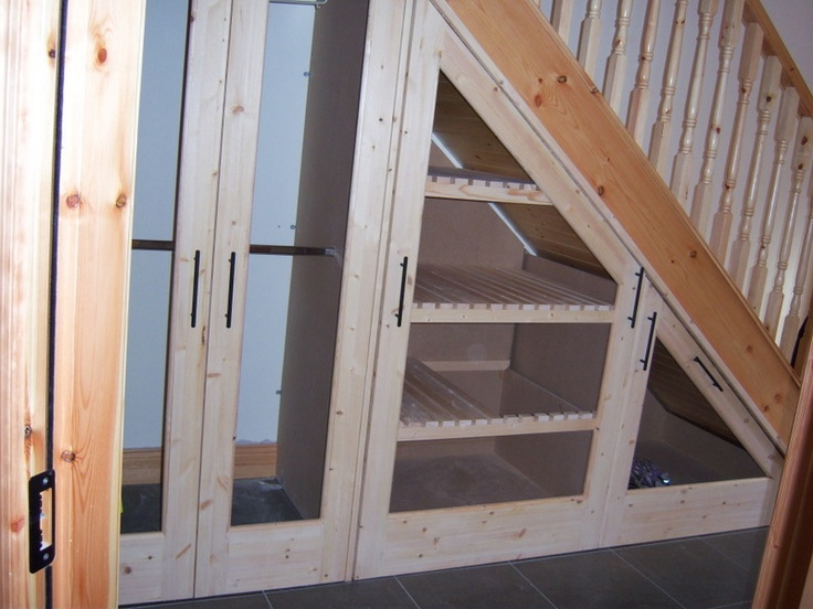 Under stairs shelves and closet basement ideas pinterest - Under stairs closet ideas ...