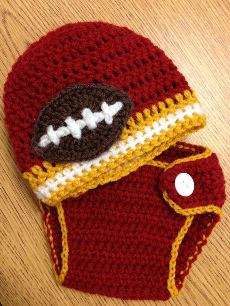 Newborn Diaper Cover and Team Colors Beanie Photo Prop. (choose your own team)