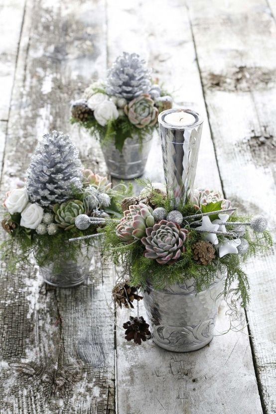 Vintage #Christmas Ideas With White Decor