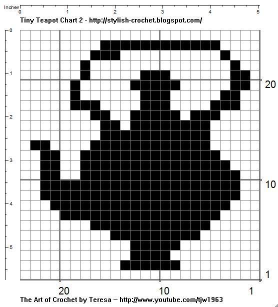 tinytea2.jpg] | Crochet Filet Charts | Pinterest