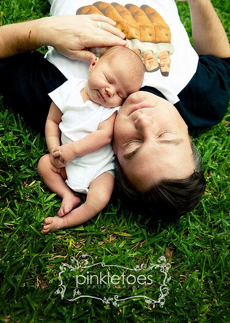 Newborn with his dad