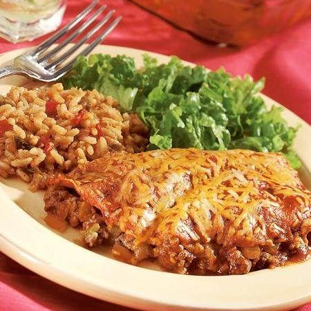 Easy Layered Beef Enchiladas | Recipe
