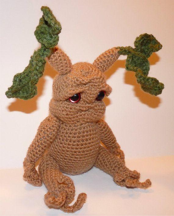 Amigurumi Mandrake : Knotty the Mandrake Seedling (inspired by Harry Potter)
