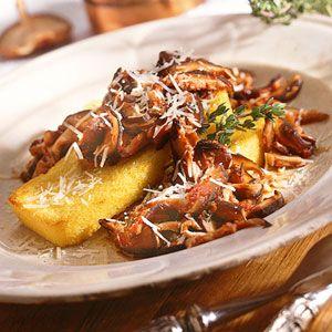 Polenta with Wild Mushroom Sauce   MyRecipes.com Originally from ...