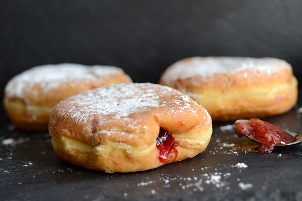 Homemade deep fried jelly filled donuts | doughnuts | Pinterest