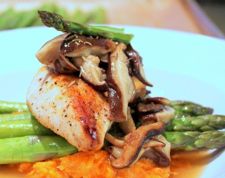 Chicken & Wild Mushroom Marsala With Spring Asparagus