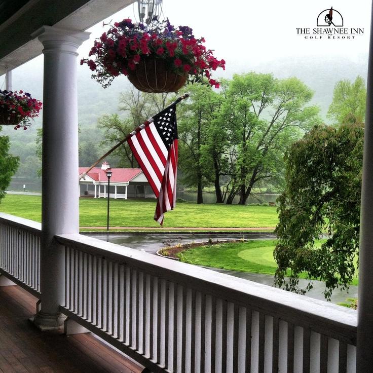 us flag in the rain