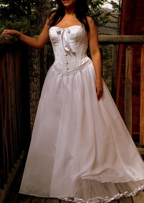 Wedding dress corset and skirt white wedding steel for Wedding dress with corset top