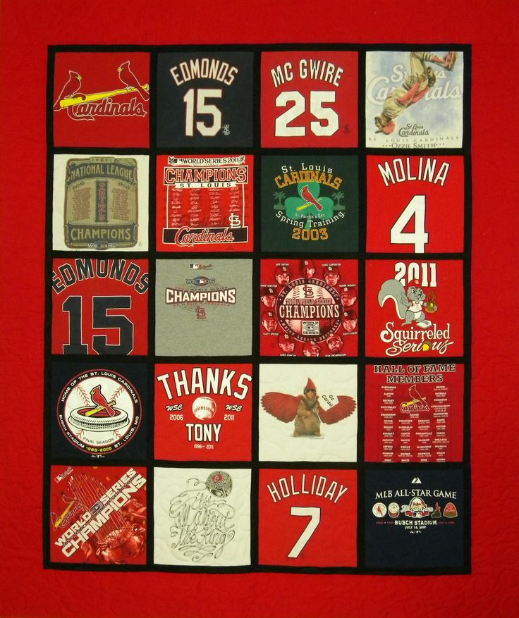st louis cardinals t shirt quilt t shirt quilts at