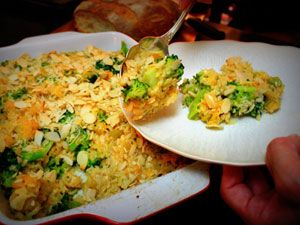 Broccoli, Chicken, and Rice Casserole with Slivered Almonds - 571 cal ...