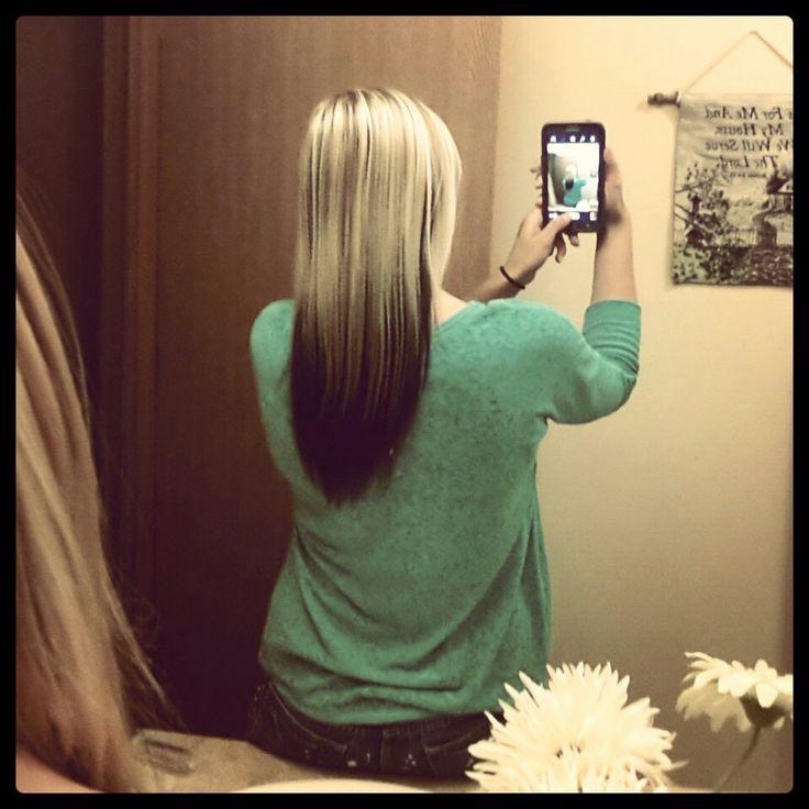 On blonde on dark bottom top