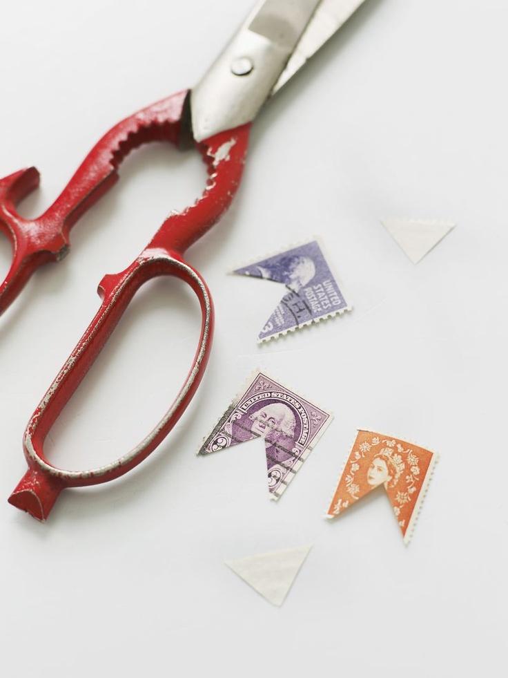 DIY Old Stamp Bunting