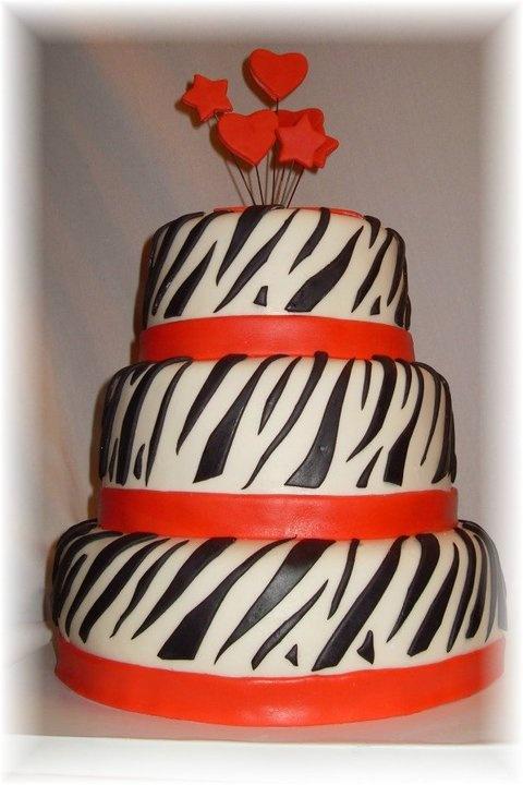fondant zebra stripes