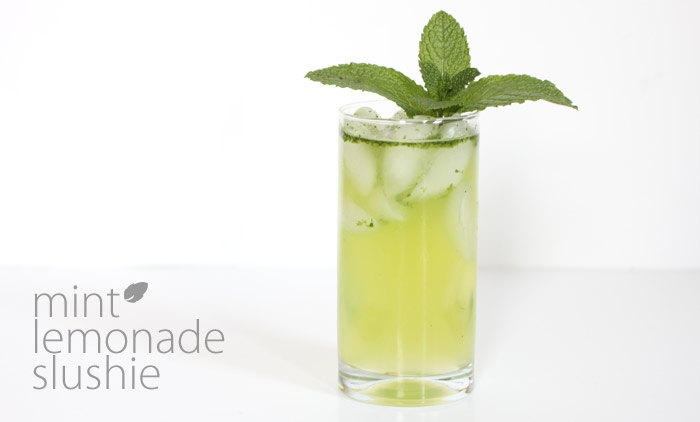 mint lemonade slushie: might just try this with my stevia extract