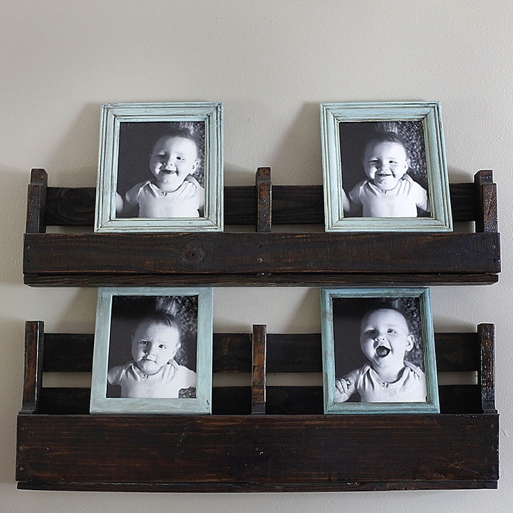 My pallet shelves & DIY distressed picture frames:) | Home Decor