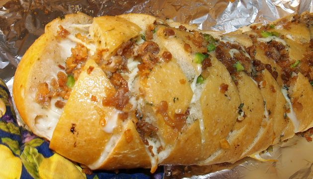 stuffed bread - bacon, mozzarella, ranch | food | Pinterest