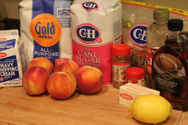 peach crisp with maple cream sauce | Desserts | Pinterest