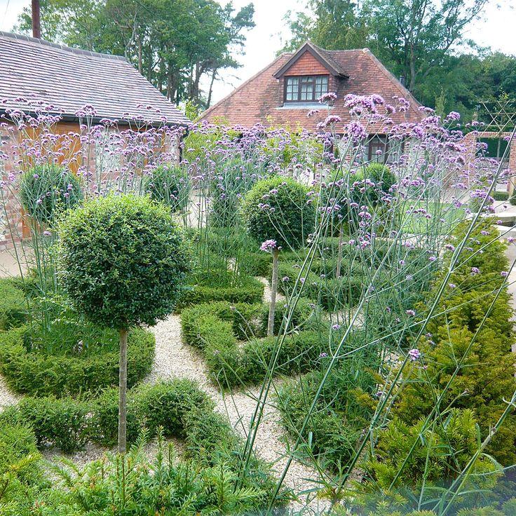 Parterre in a french style walled garden Joanne Alderson