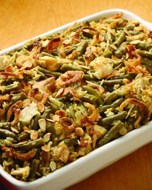 Main Dish: Chicken, Rice and Green Bean Casserole Recipe