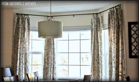 DIY Curtain Rods Sliding Glass Door Bay Window