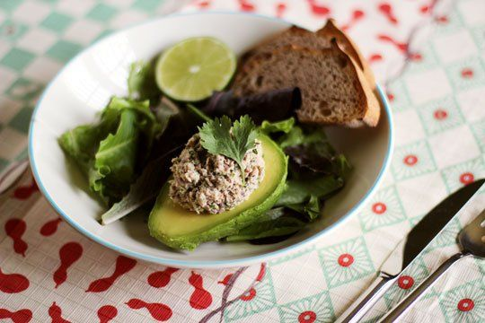 Recipe: Cilantro-Lime Sardine Salad in Avocado Halves — Recipes From ...