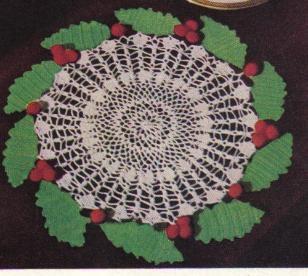 free crochet Christmas doily patterns