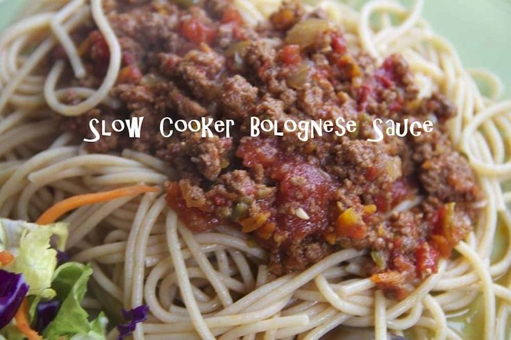 Slow Cooker Bolognese Sauce | Savoury Foods | Pinterest