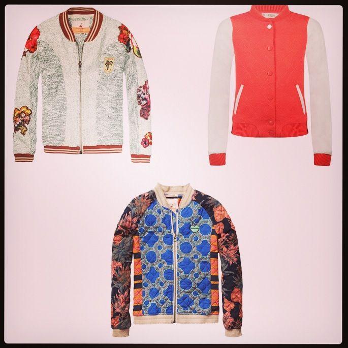 floral bomber jackets from scotch r 39 belle and pink white bomber jacket. Black Bedroom Furniture Sets. Home Design Ideas