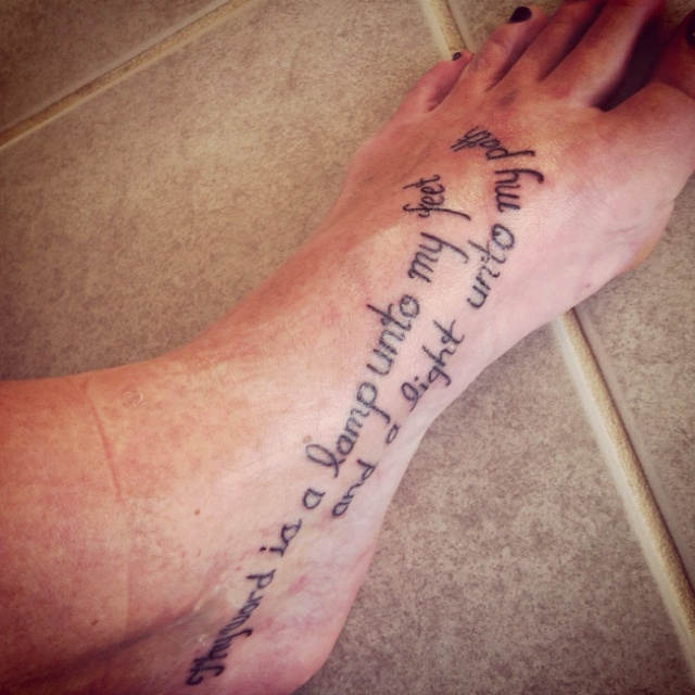 bible quote tattoos on foot - photo #3