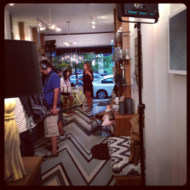 "The HGTV show ""Ask Genevieve"" filmed in our NY store today!"