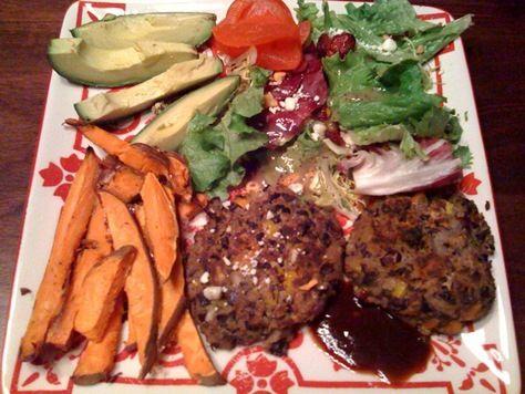 Her Homemade Black Bean Veggie Burgers | Recipes/Healthy | Pinterest