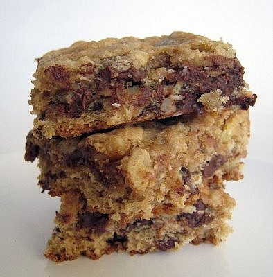 Banana Walnut Chocolate Chip Cookie Bars. All good words in this ...