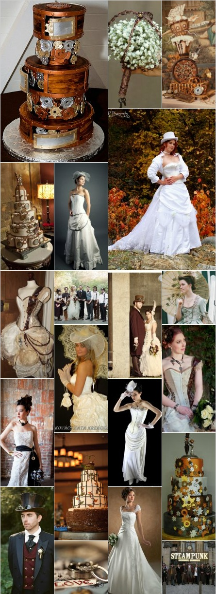 Steampunk weddings steampunk wedding pinterest for Wedding dress steaming near me