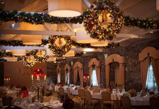 Christmas wedding at ballymagarvey ballymagarvey banquet for Christmas hall decorations