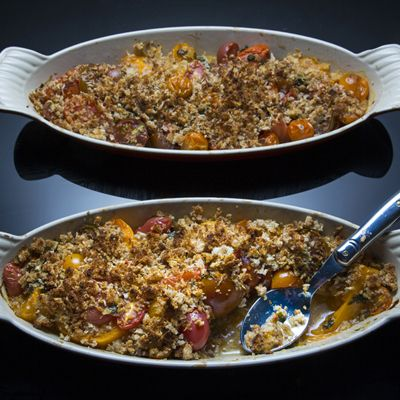 Heirloom Tomato Gratin with Tarragon and Gouda Crumbs Recipe from the ...