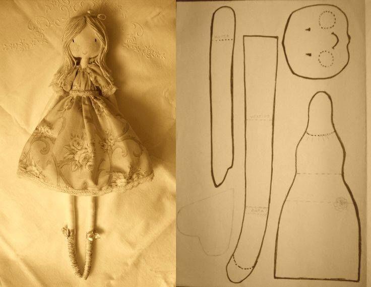 Как самой сшить тряпичную куклу 988